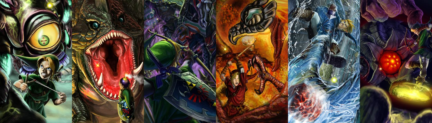Link vs The Bosses