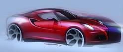 Alpha Romeo 4c Drawing