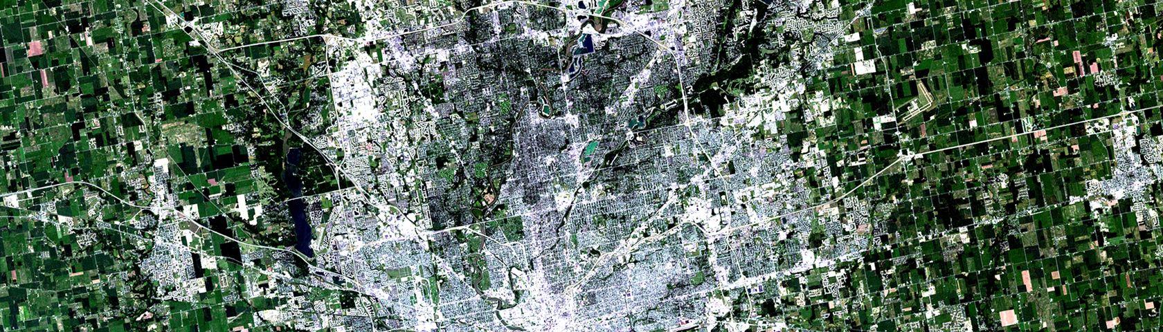 NASA Satellite Captures Super Bowl Cities: Indianapolis 2001
