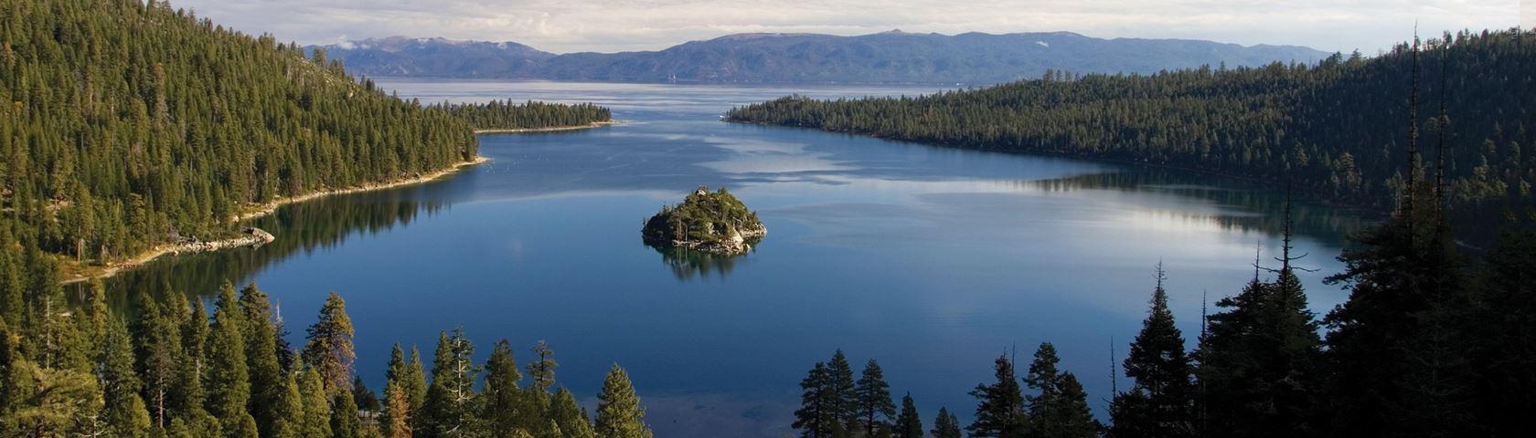 Emerald Bay, with Fannette Island, Lake Tahoe, CA