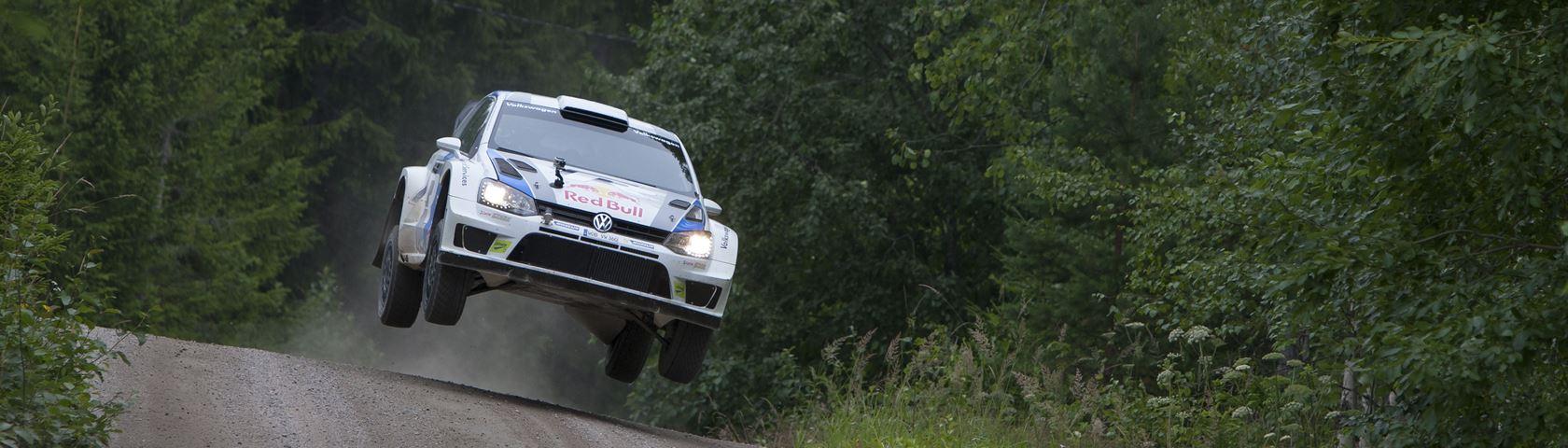 Flying VW Rally Car
