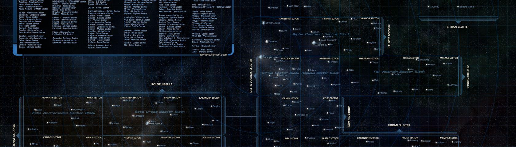 Star Trek Galactic Star Chart