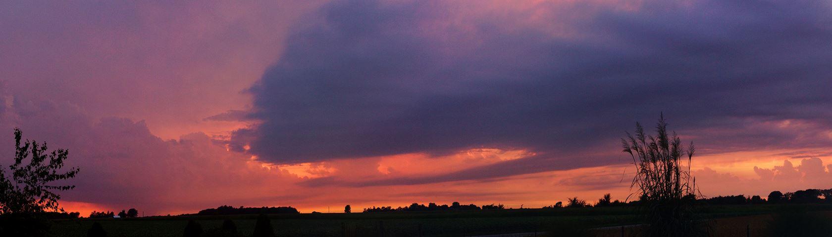 Sunset Lightning Storm