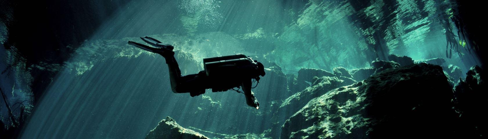 Cave Diving, Yucatan, Mexico