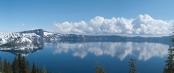 Crater Lake in Spring