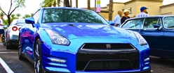 Chrome Blue Nissan GTR