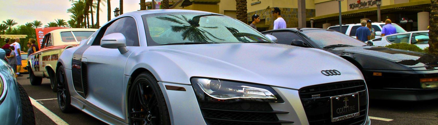 Matte Gun Metal Grey Audi R8 V10
