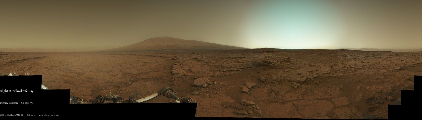 Mars landscape taken by Curiosity Rover