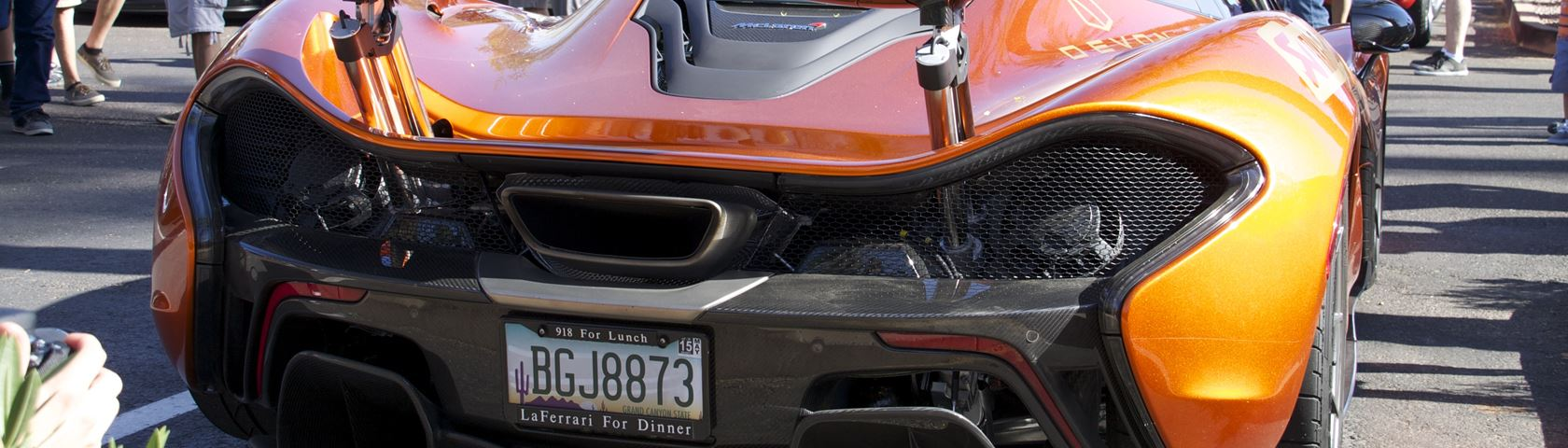 McLaren P1 Rear View (Porsche 918 for lunch, LaFerrari for dinner)