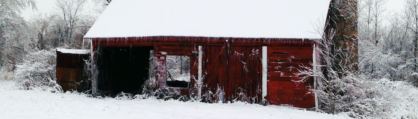 Winter Barn Side View