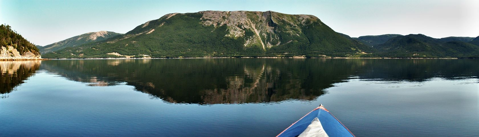 Kayaking at Lomond, Gros Morne National Park, Newfoundland, Canada