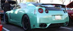 A Sea Foam Green Nissan GTR (Driven by a 16 Year Old That Purchased It)