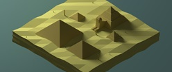 Egypt Low Poly Isometric Render