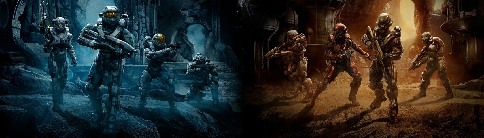 Halo 5 Guardians Dual Screen Images Wallpaperfusion By