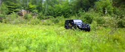 Jeep Rubicon in field