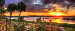 Gorgeous sunset over Lake Apopka in Florida
