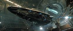 Elite Dangerous: Anaconda in Starport