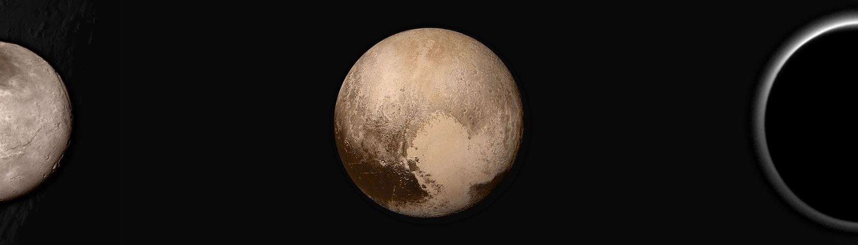 Montage of Pluto and Charon photos