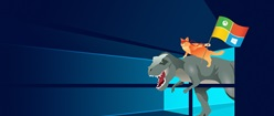 Windows 10 T-Rex and Ninja Cat
