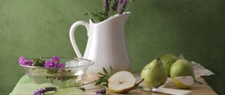 Lavender Still Life with Pears