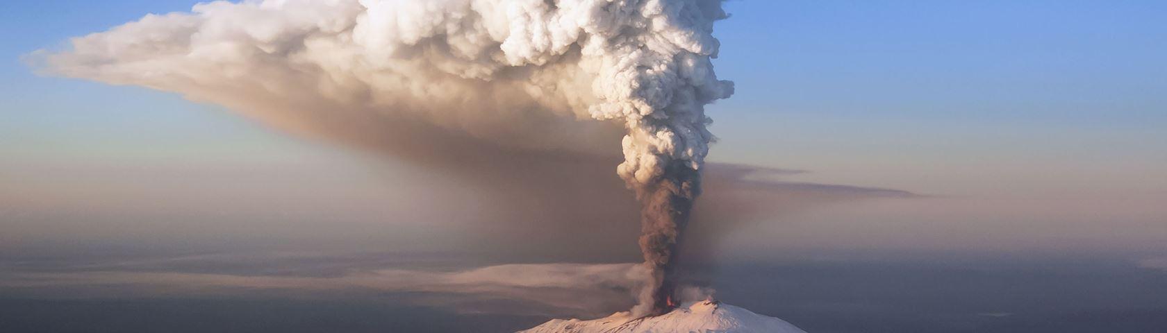 Steaming Mt Etna, Sicily