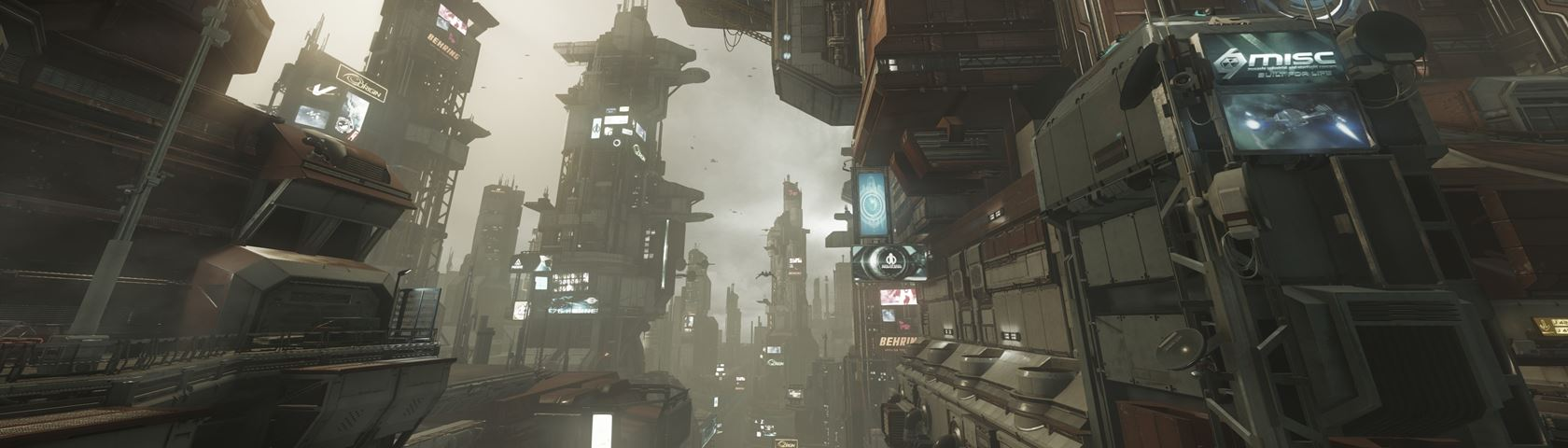 Star Citizen Ships Fly By