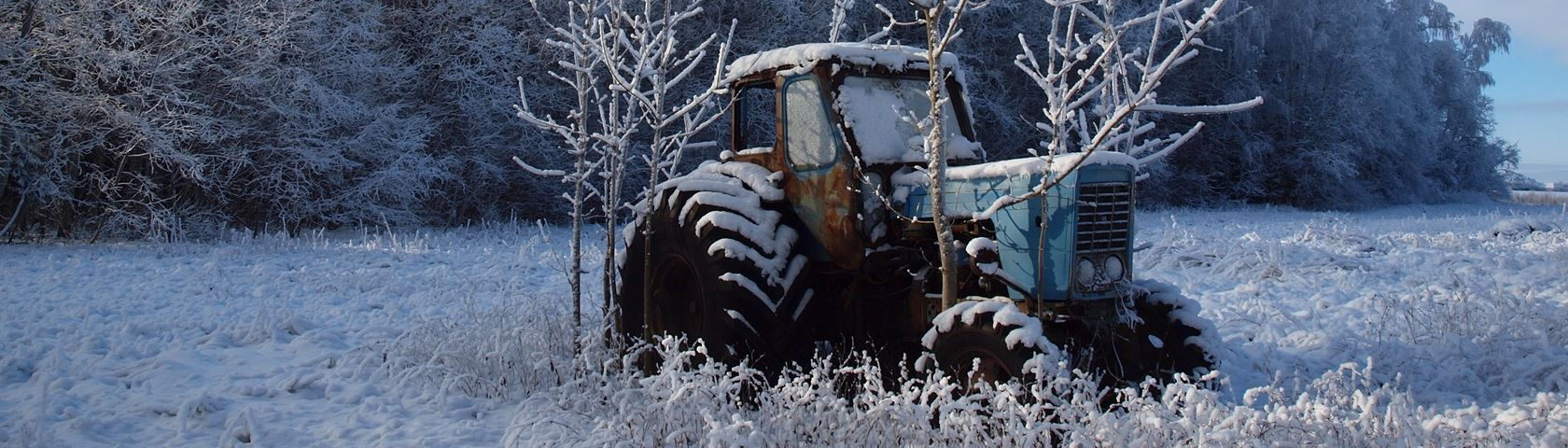 Old Tractor in the Snow