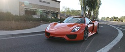 Porsche 918 Spyder in Signal Orange (Rolling Shot)