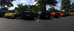 Panoramic Chevy Corvettes