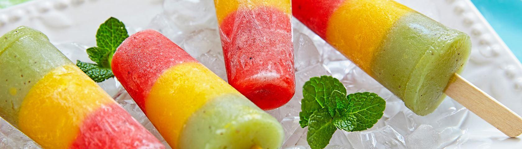 Rainbow Fruit Lollies