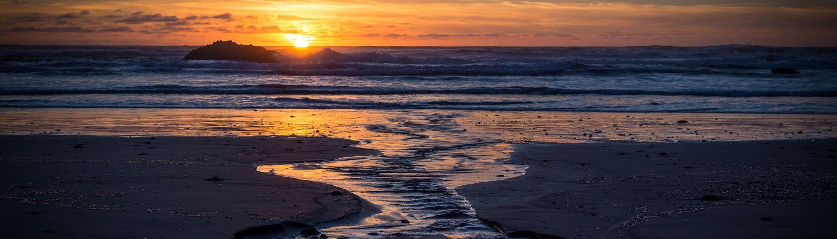 Sunset at Hug Point