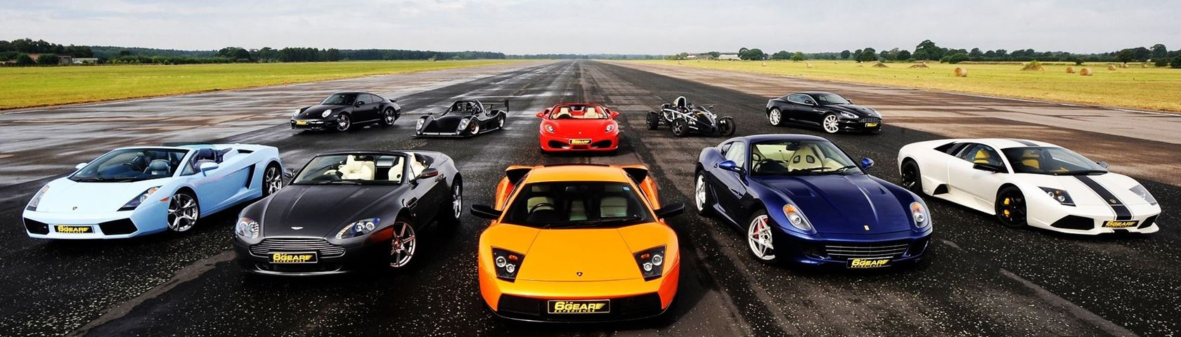 Exotic Cars in a Line