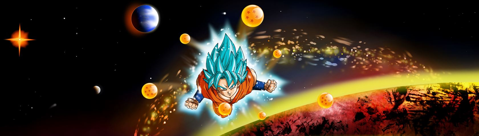 Dragon Ball Goku SSJ Blue in Space