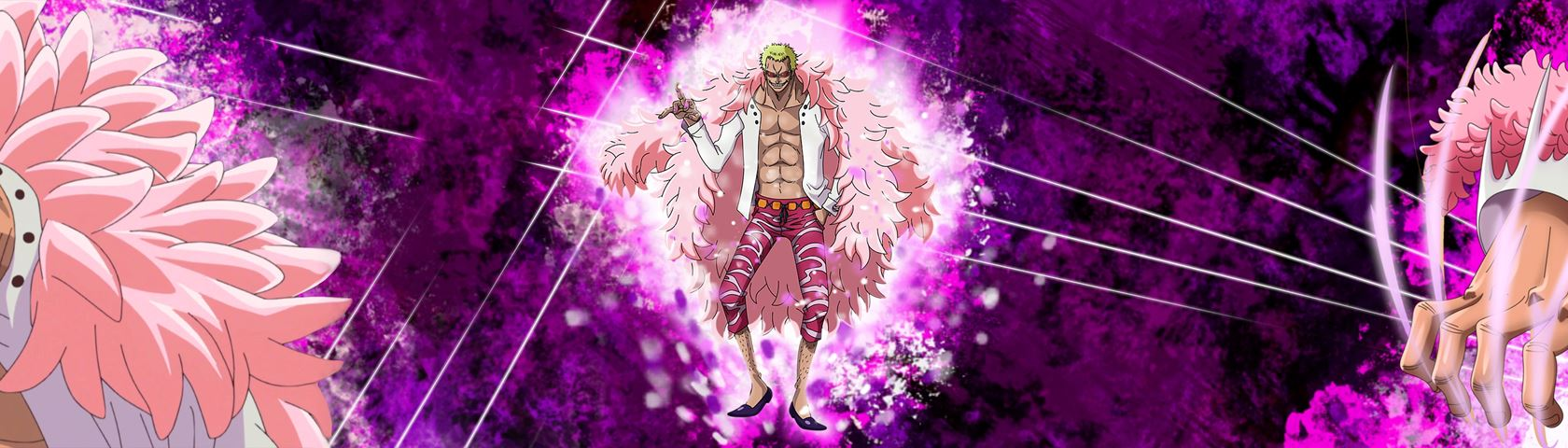 One Piece Doflamingo triple monitor wallpaper HD