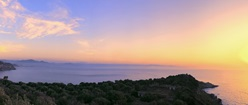 """""""Lighthouse of Milazzo in Sicily"""" Triple Monitor Wallpaper"""