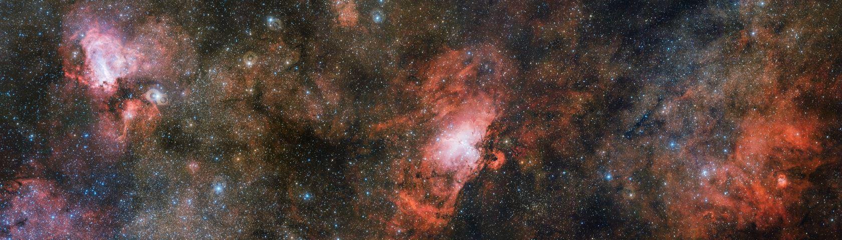 Omega & Eagle Nebula