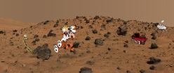 Calvin and Hobbes on Mars