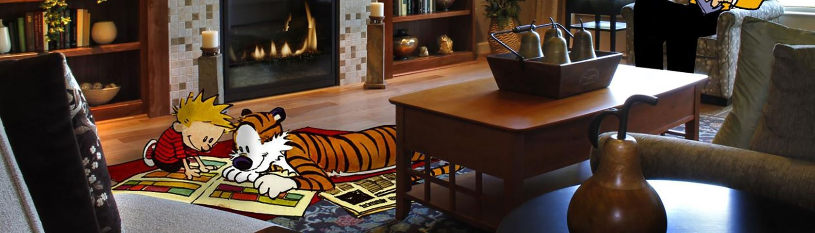 Calvin and Hobbes in the Den