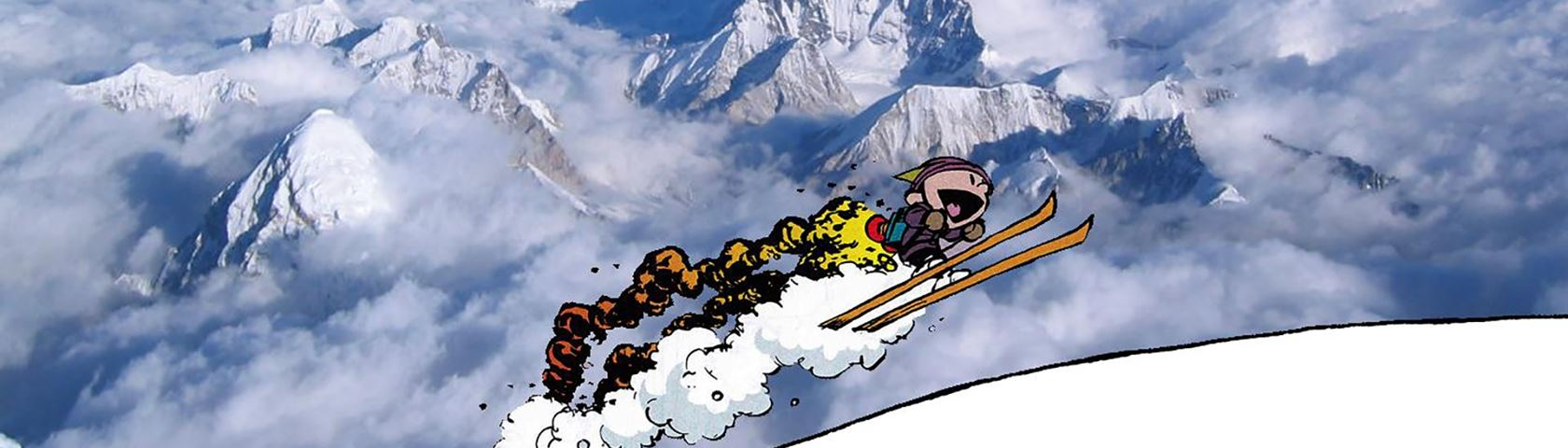 Calvin and Hobbes with Rocket Skis