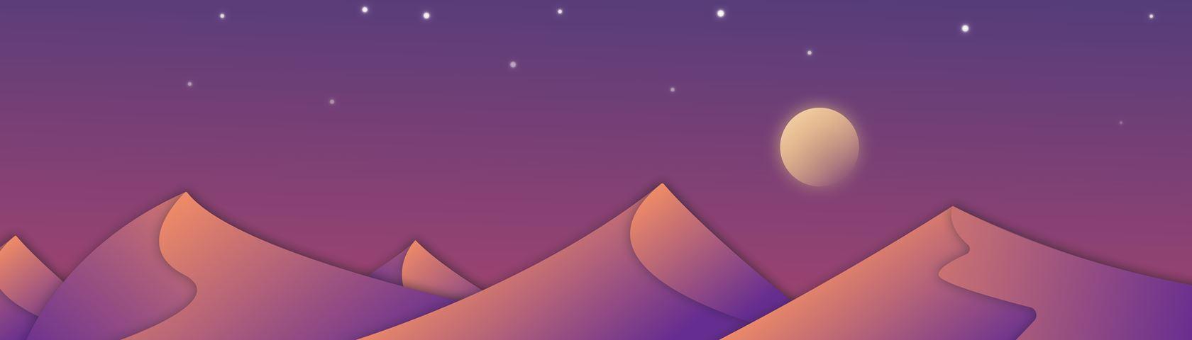 Flat Design Desert