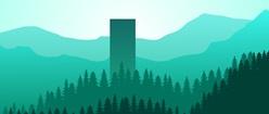 Flat Design Forest
