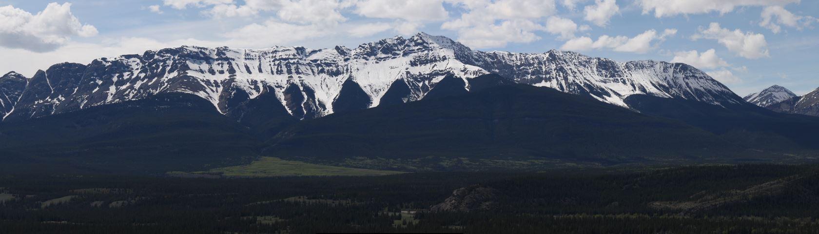 Panoramic Mountain Range