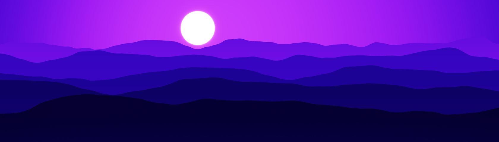 Mountains (Indigo)