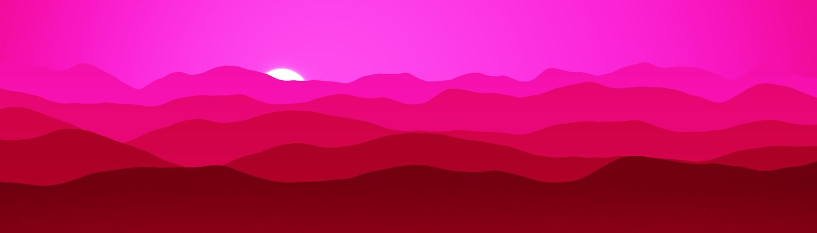 Mountains (Pinkish Red)