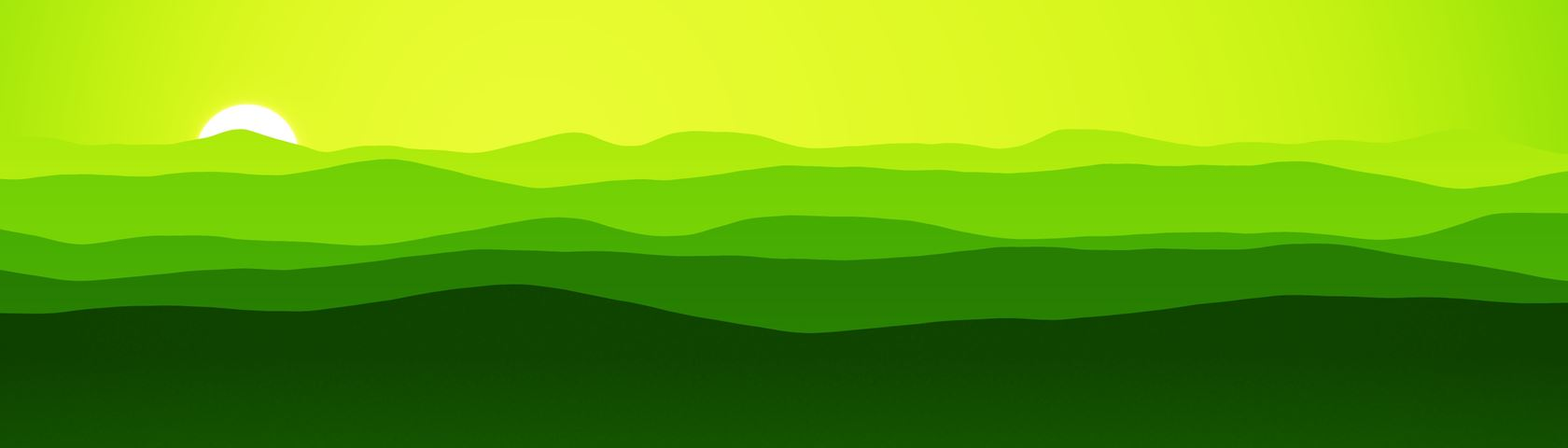 Mountains (Yellow Green)