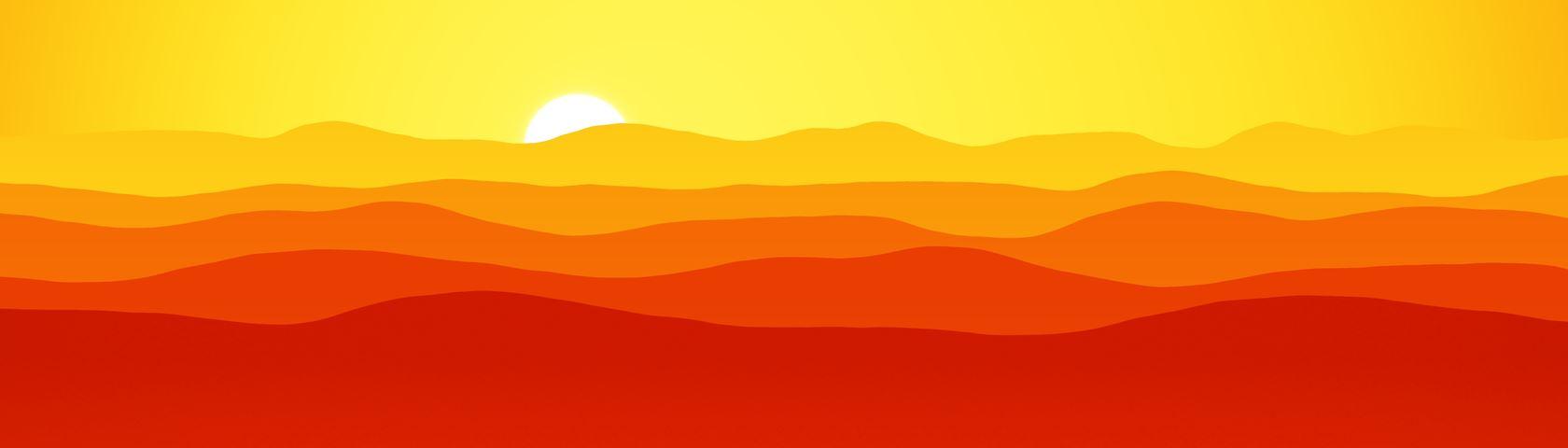 Mountains (Orange)