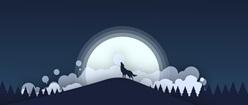 Wolf at Moon