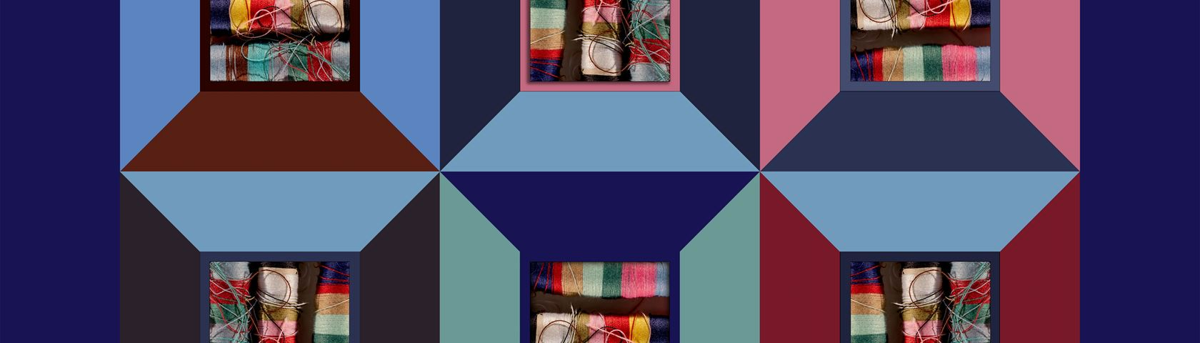 Quilt Design with Colorful Threads