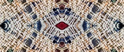 Handwoven Fabric in Symmetrical Arrangement