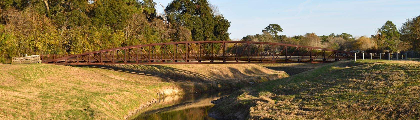 Red Bridge Over Bayou